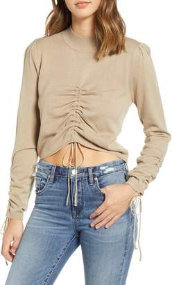 J.o.a. Ruched Front Sweater
