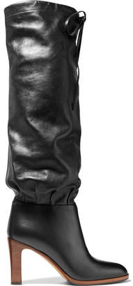 Gucci Lisa Leather Knee Boots - Black