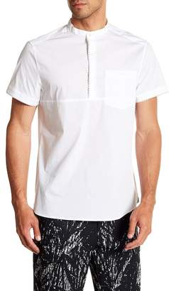 Kenneth Cole New York Popover Short Sleeve Regular Fit Shirt
