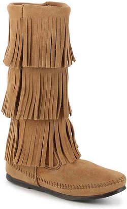 Minnetonka Calf Hi 3 Layer Fringe Western Boot - Women's