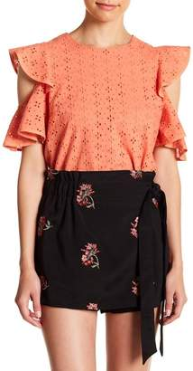 Endless Rose Cold Shoulder Eyelet Top
