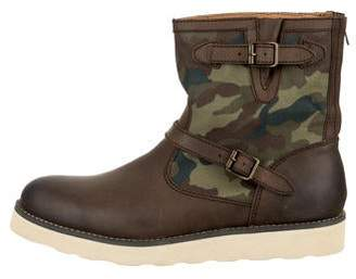 Denim & Supply Ralph Lauren Leather Camouflage Ankle Boots