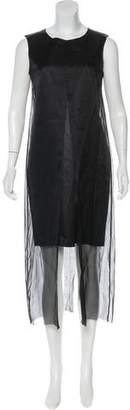 Yang Li Semi-Sheer Midi Dress