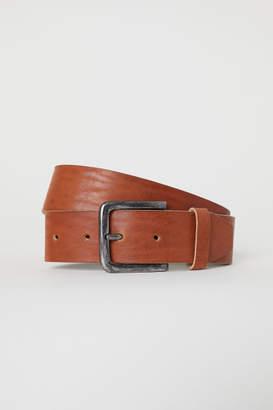 H&M Wide Leather Belt - Orange