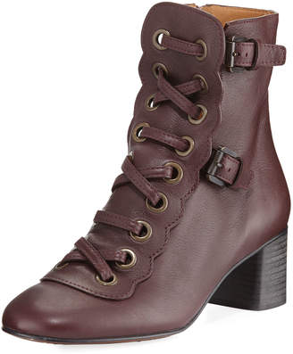Chloé Orson Lace-Up 30mm Bootie