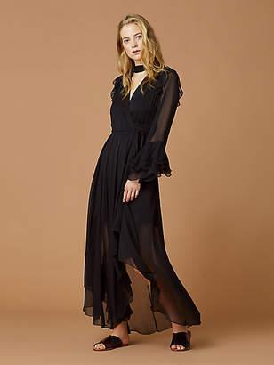 Diane von Furstenberg Diva Ruffle Chiffon Wrap Dress
