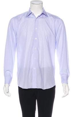 Canali Plaid Woven Shirt
