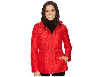 MICHAEL Michael Kors Snap Front Belted Quilt M422715B74 Women's Coat