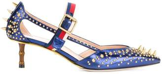 Gucci Sylvie Web strap pumps