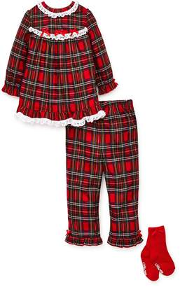 Little Me Christmas Plaid Two-Piece Pajamas