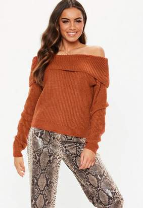 Missguided Bardot Knitted Jumper