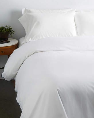 Serena & Lily Scallop Embroidered Duvet