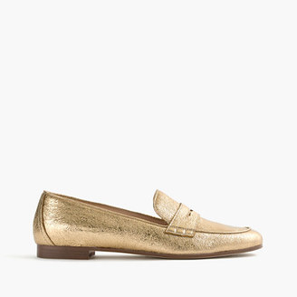 Charlie loafers in metallic leather $188 thestylecure.com