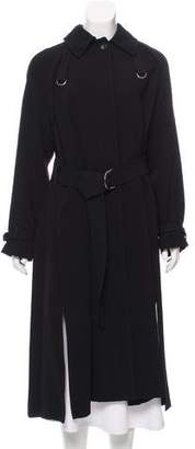 Elizabeth and James Pointed Collar Long Coat