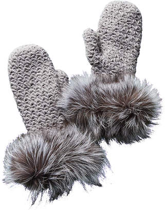 Surell Fleece-Lined Knit Mittens