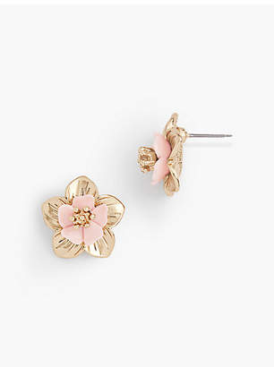 Talbots Tropical Blossoms Mini Stud Earrings