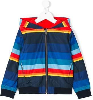 Paul Smith striped reversible jacket