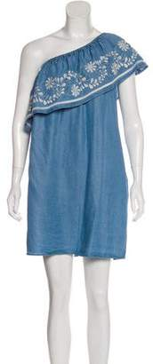 Rebecca Minkoff One-Shoulder Tiered Dress