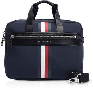 7ccfa0170337 Tommy Hilfiger Tommy Blue Striped Nylon Elevated Briefcase