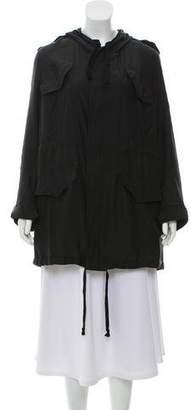 Faith Connexion Hooded Silk Jacket