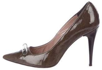 Gianfranco Ferre GF Patent Pointed-Toe Pumps