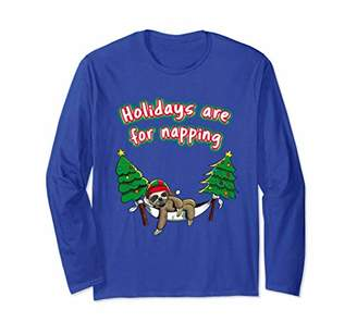 Funny Christmas Sloth T-Shirt Holidays Are For Napping