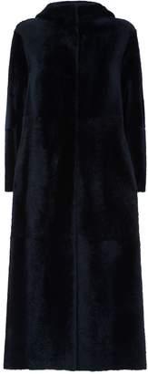 Max Mara Long Hooded Shearling Coat