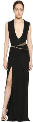 Lanvin (ランバン) - Lanvin Jersey & Crepe Dress W/ Belt
