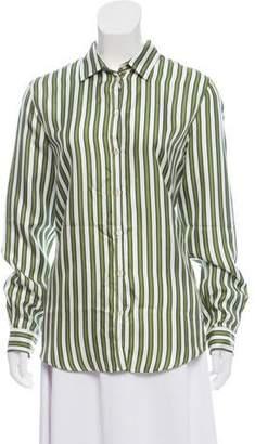 Massimo Alba Striped Silk Top w/ Tags