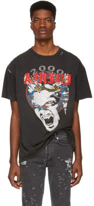 Amiri Black and Red Reconstructed Crystal Lost Boys T-Shirt