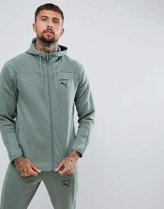 Puma Pace Full Zip Hoodie In Green 57638923