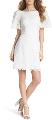 Gal Meets Glam Blythe Scallop Eyelet Dress