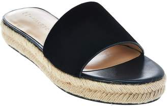 Halston H By H by Suede Flat Espadrille Slide - Norma