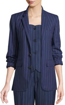Ralph Lauren Roberts Single-Breasted Pinstriped Wool Jacket