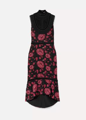 Alice + Olivia Alice Olivia - Evelina Chiffon-trimmed Guipure Lace Dress - Black