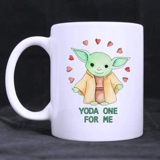 Yoda One for Me White Mugs WECE Top Funny Yoda Fan Mug - Yoda One for Me Theme Coffee Mug or Tea Cup,Ceramic Material Mugs,White - 11oz