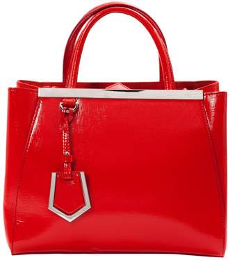 Fendi 2jours Red Patent Leather Handbag
