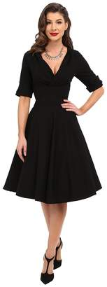 Unique Vintage 3/4 Sleeve Delores Swing Dress Women's Dress