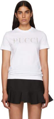 Emilio Pucci (エミリオプッチ) - Emilio Pucci ホワイト グリッター Pucci T シャツ