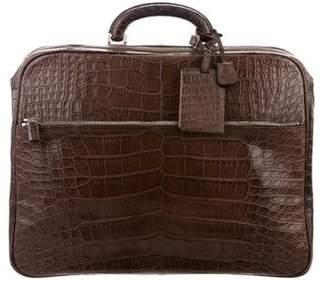 Valextra Alligator Briefcase