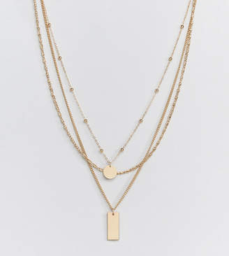 Missguided layered necklace in gold