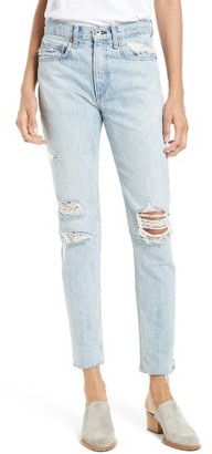 Women's Rag & Bone/jean Marilyn High Waist Boyfriend Jeans $295 thestylecure.com