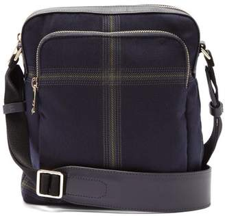 Paul Smith Checked Twill Cross Body Bag - Mens - Blue