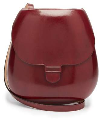 Lemaire Cartridge Leather Cross Body Bag - Womens - Burgundy