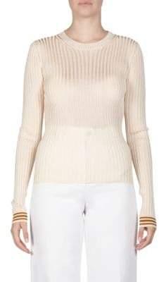 Acne Studios Spitak Contrast Cuff Sweater