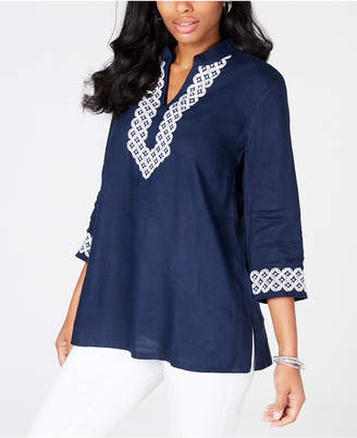 Charter Club Embroidered Tunic