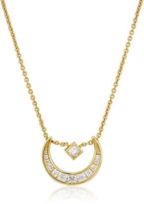 Nicole Miller New York Crescent Slide Gold Pendant Necklace