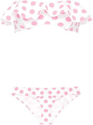 Lisa Marie Fernandez 'Natalie' flounce polka dot print bikini set