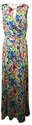 Ellen Tracy Women's Sleeveless Cutout Printed Maxi Dress $69.99 thestylecure.com