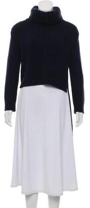 Celine Turtleneck High-Low Sweater